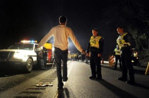 DUI Checkpoint Sobriety Test